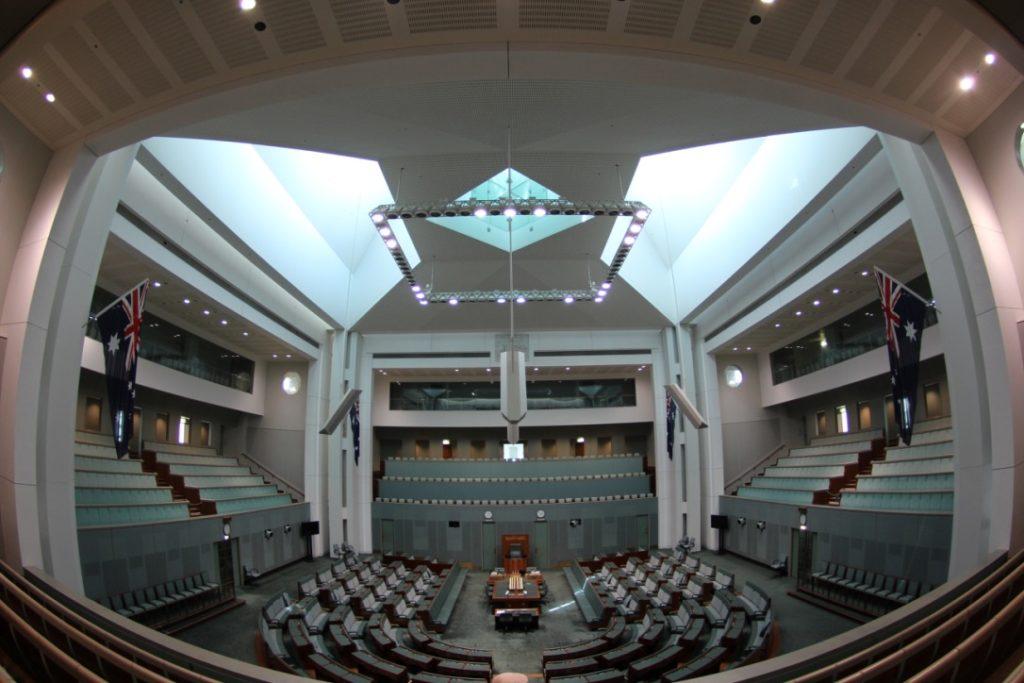 キャンベラの国会議事堂