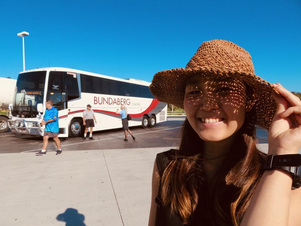 ブリスベンからバンダバーグまでバスで行く