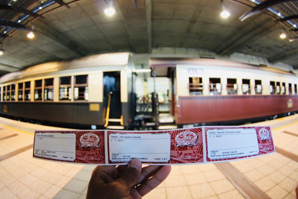 キュランダ高原列車のチケット