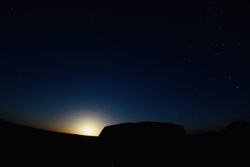 日没のウルルのエアーズロック