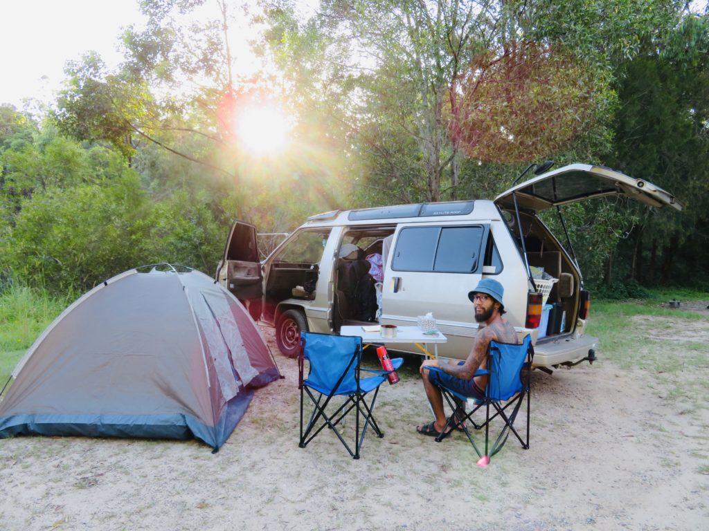 オーストラリアでキャンプ