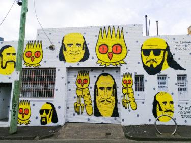 【Aiの旅日記 #2 】メルボルンでおじさんの絵の壁 発見!