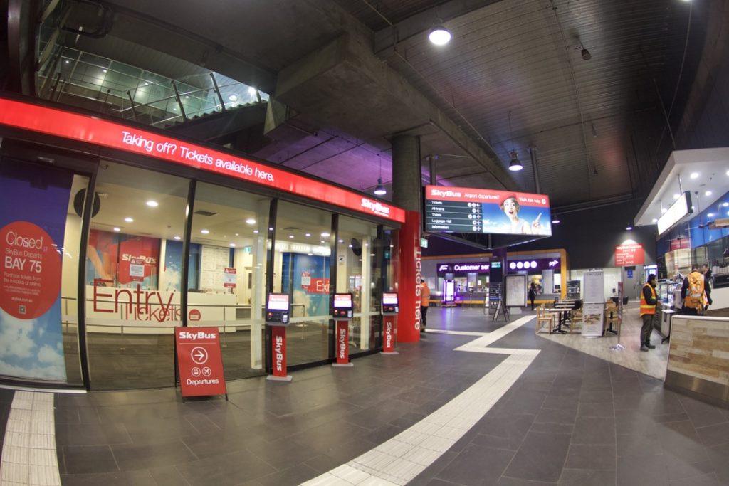 サザンクロス駅のスカイバス