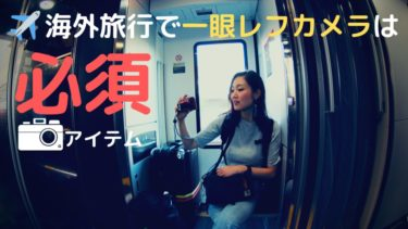 旅がさらに楽しくなる!海外旅行で写真を撮るなら一眼レフカメラ!