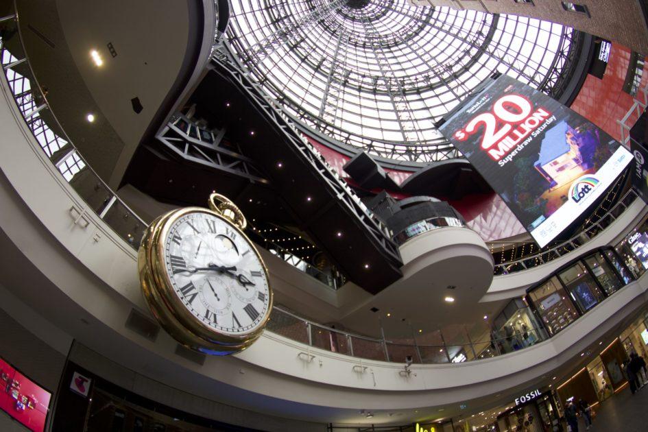 ショットタワーの時計