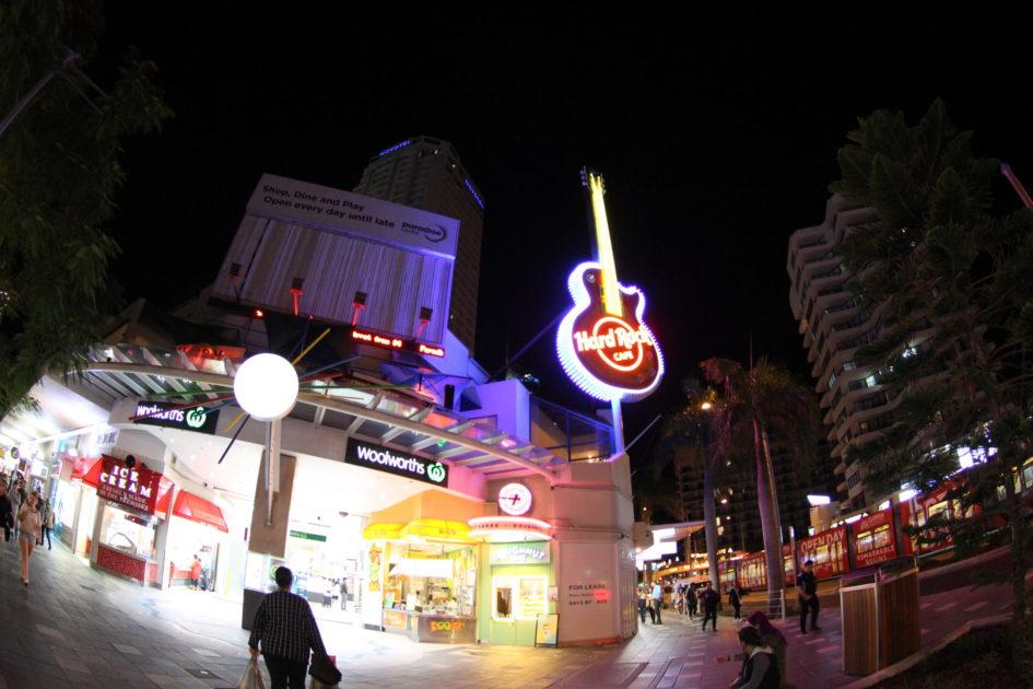 ゴールドコーストのHard Rock Cafe(ハード・ロック・カフェ)