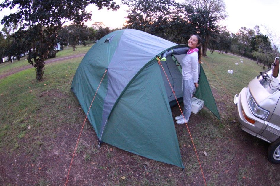 オーストラリア一周の便利なキャンプ用品 テント