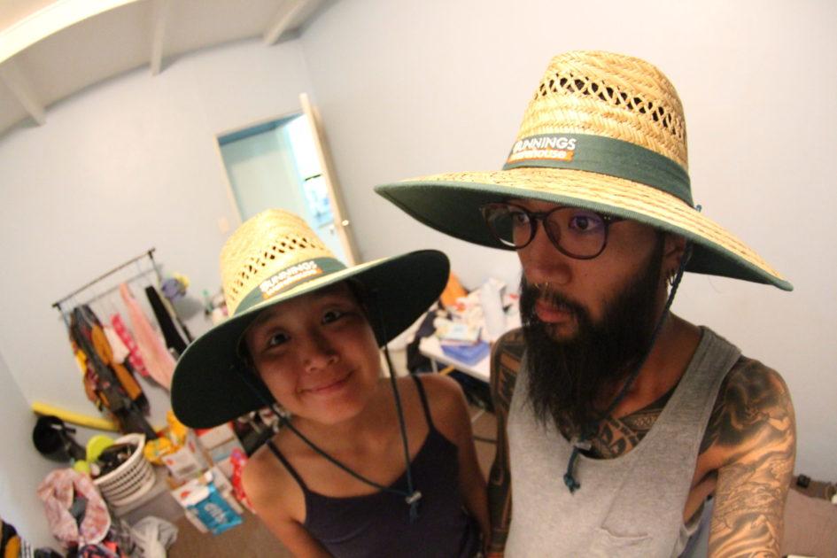ファームの服装 帽子