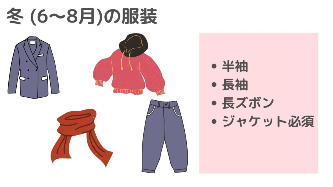 メルボルンの冬服