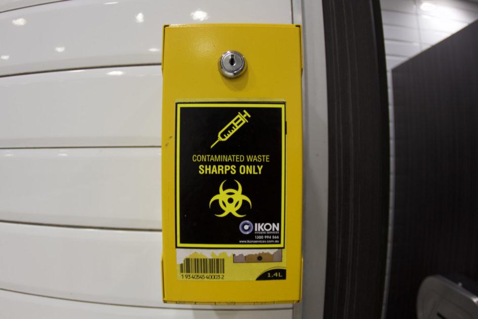 オーストラリアのトイレ 黄色い箱
