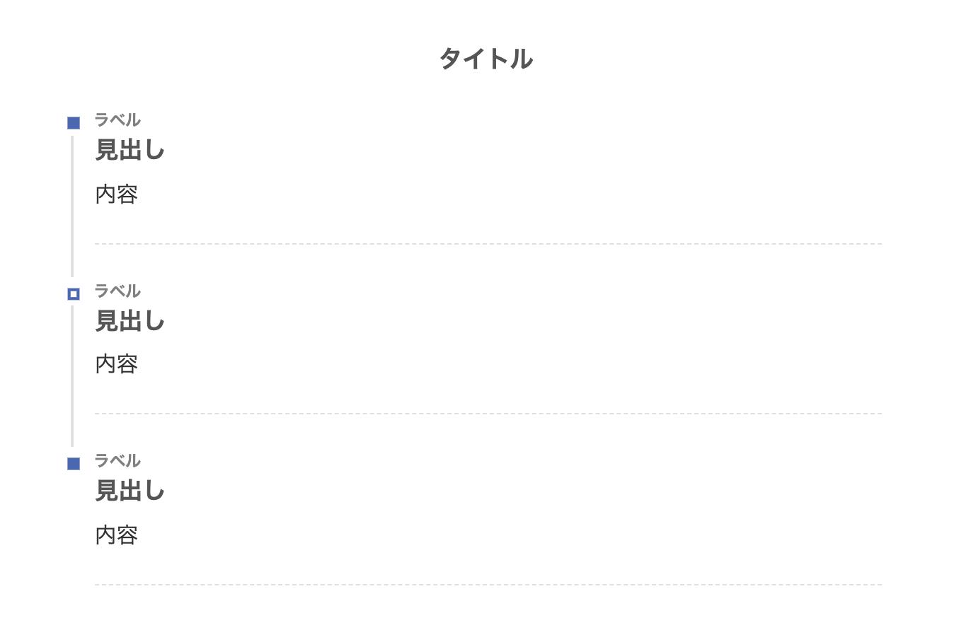 タイムライン(四角)