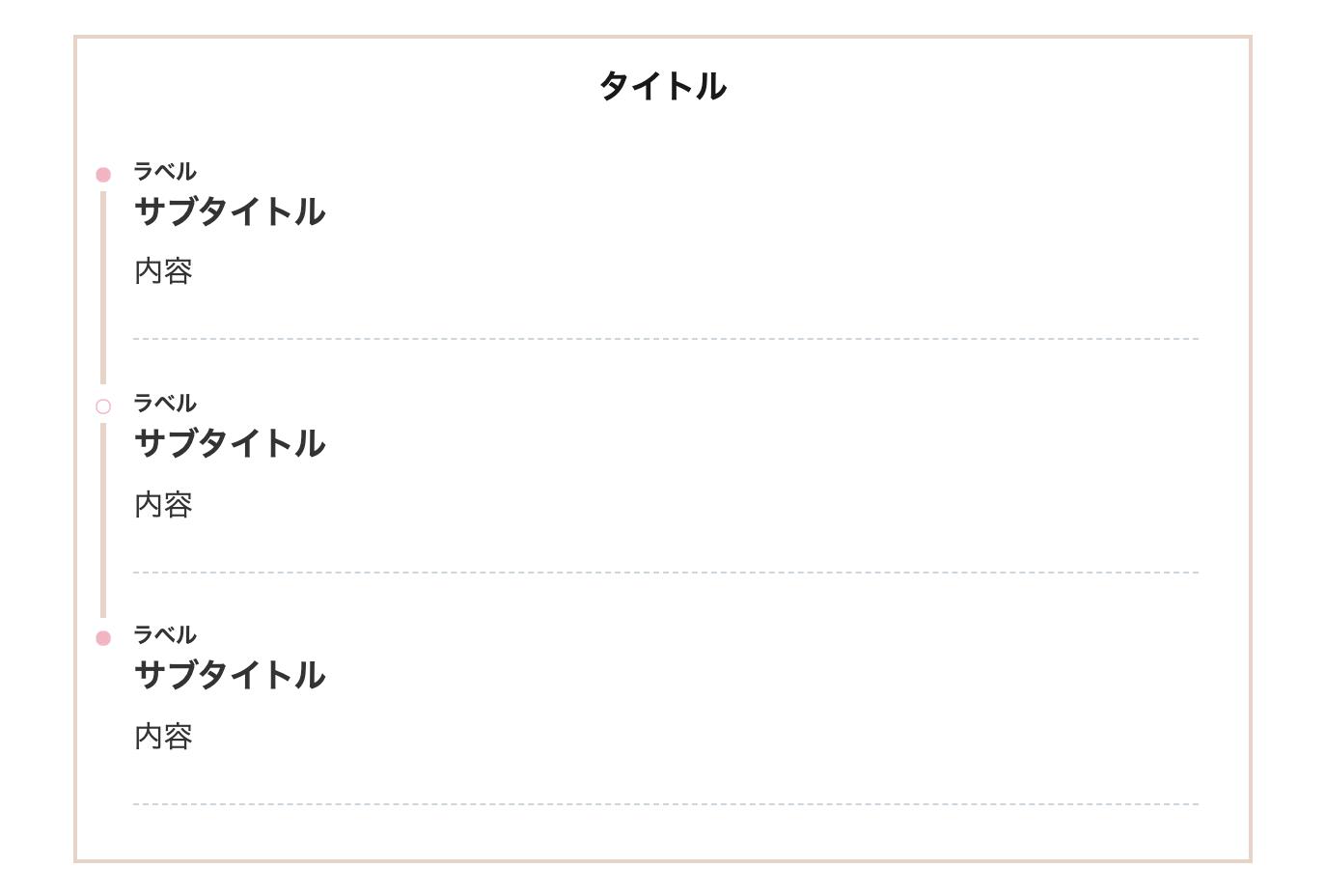 シンプルタイムライン(枠あり)