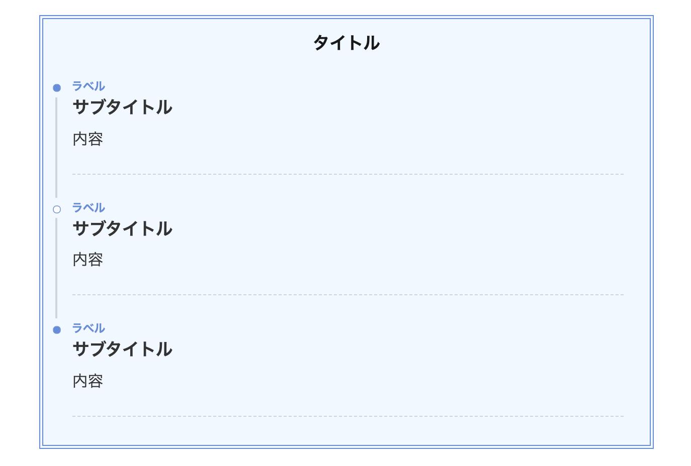 シンプルタイムライン(二重線)