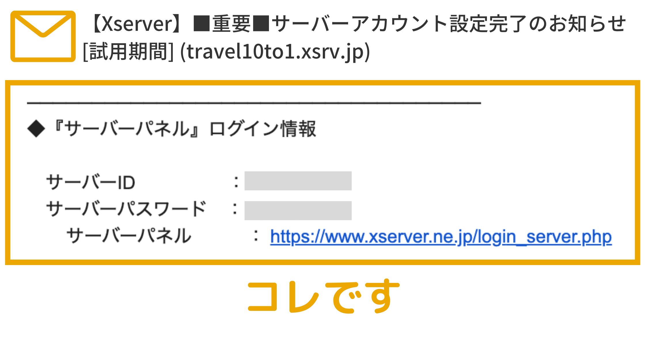 直接 URLからログインする場合