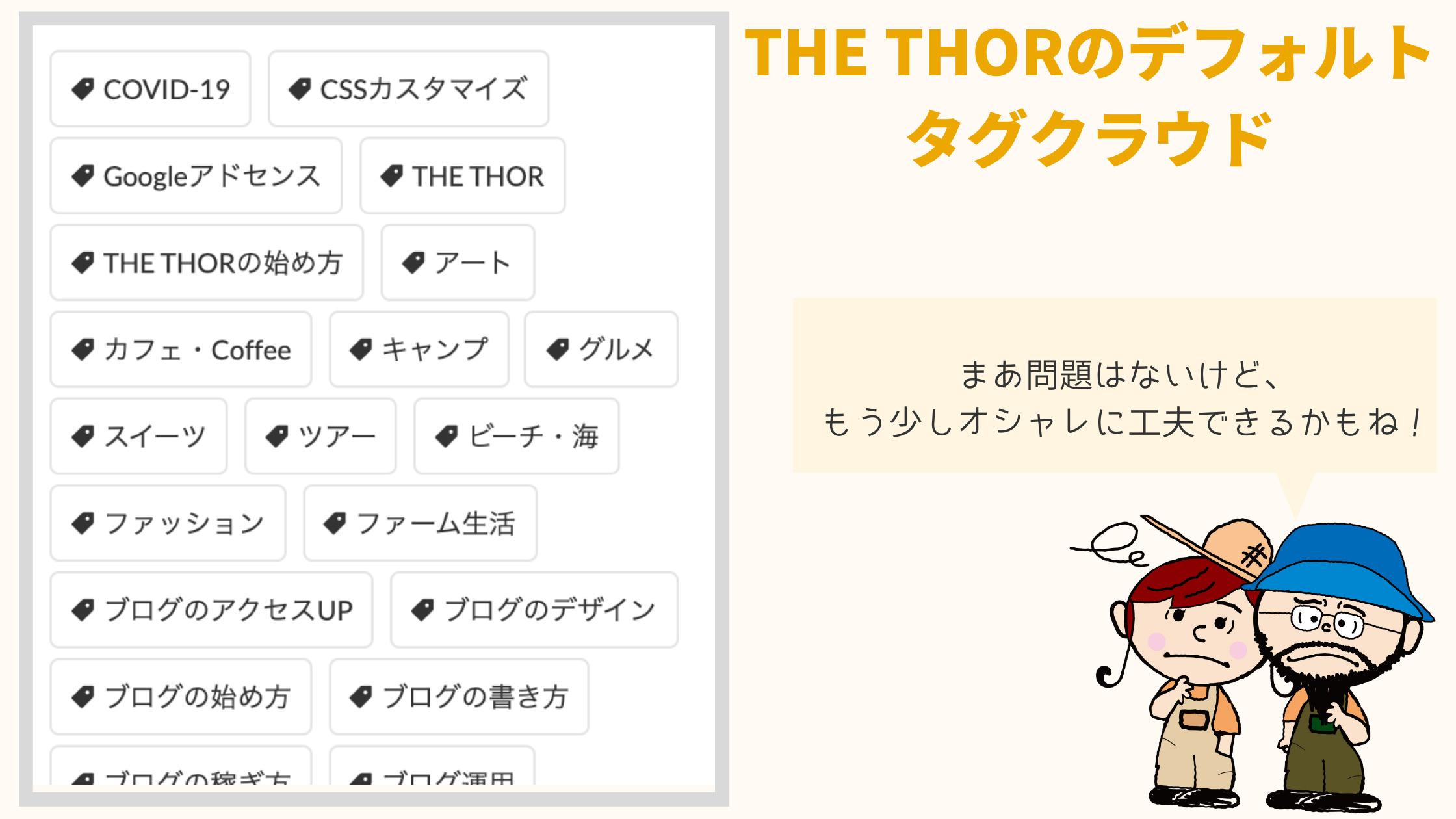 THE THORのタグクラウド・カスタマイズ