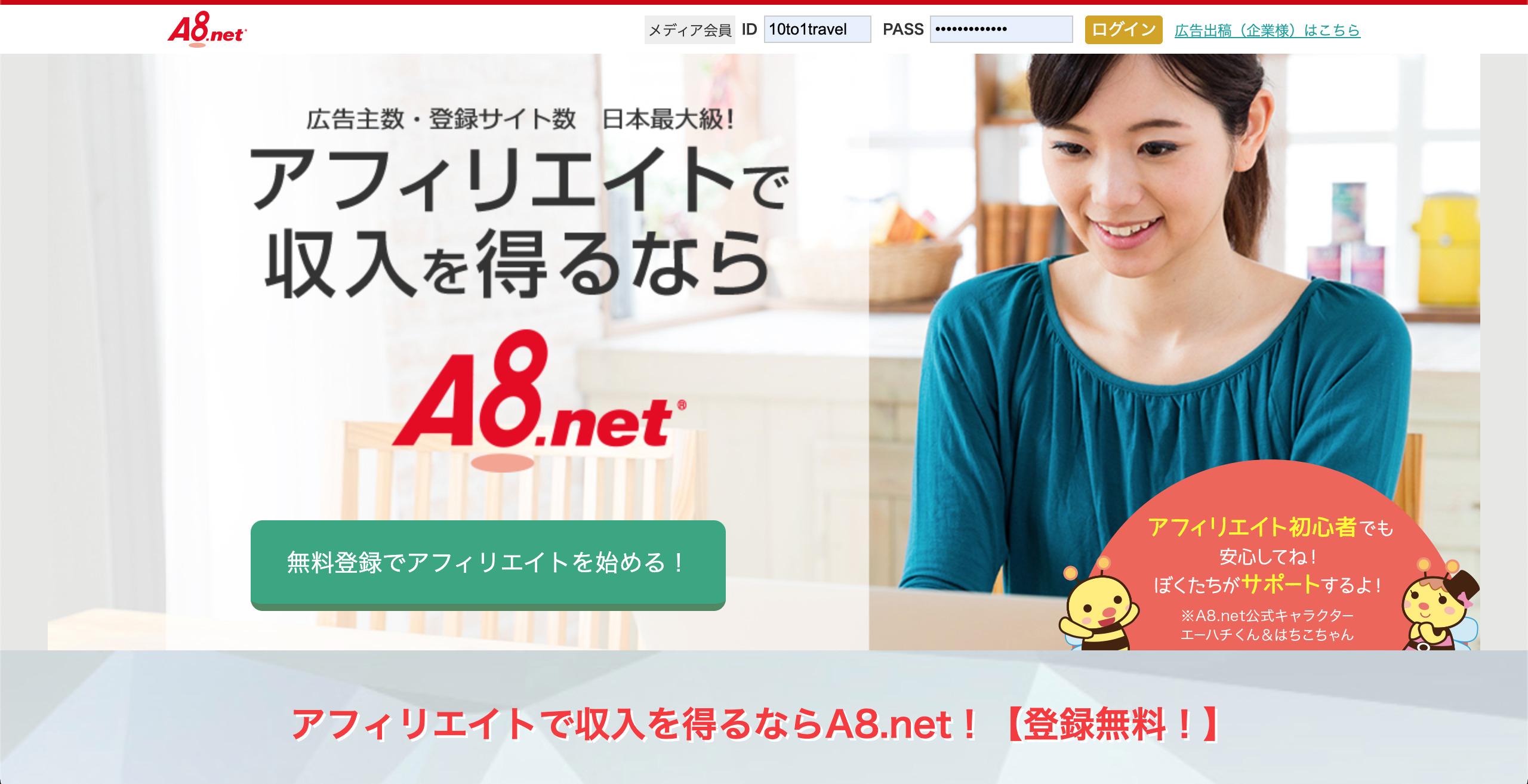 定番ASP①:A8.net
